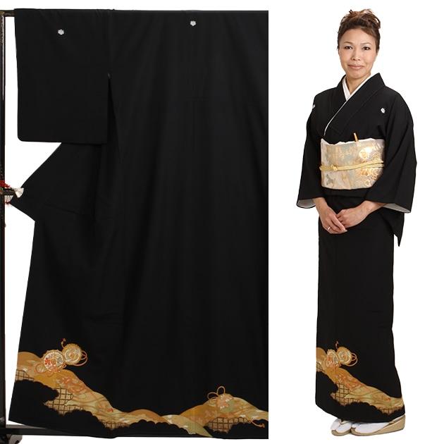 黒留袖 レンタル [小柄な方:〜153cm] 留袖 レンタル 着物 留め袖 NT-604