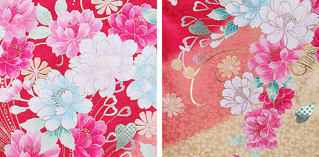 卒業式 袴 レンタル ローズ色 花ハート グラデ袴 身長〜170cm,7号〜13号 NT-302