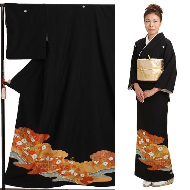 黒留袖 レンタル [小柄な方:〜153cm] 留袖 レンタル 着物 留め袖 NT-683