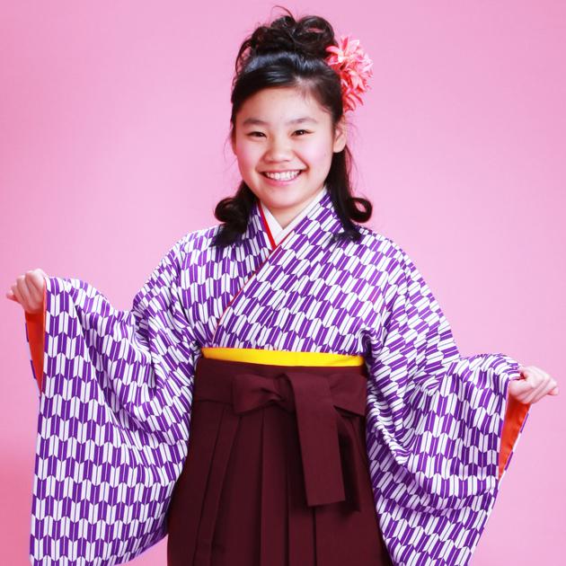 小学生袴 レンタル 紫色 矢絣 入学式 卒業式 1/2成人式