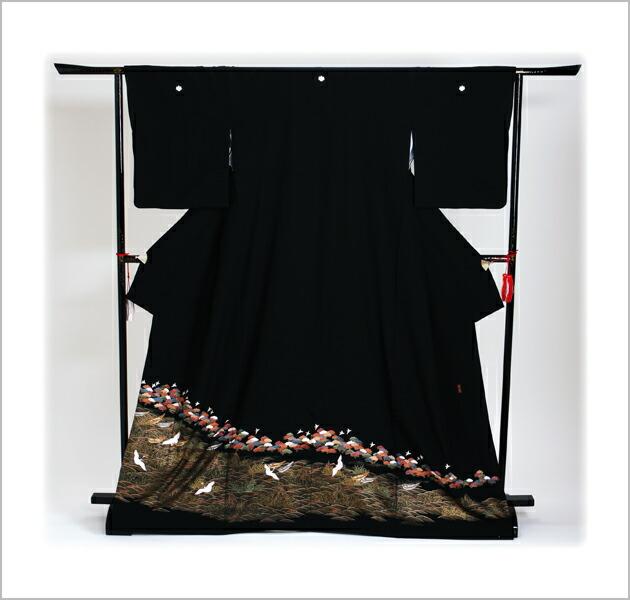 黒留袖 レンタル [標準サイズ:150cm〜163cm] 留袖 レンタル 着物 留め袖 NT-589