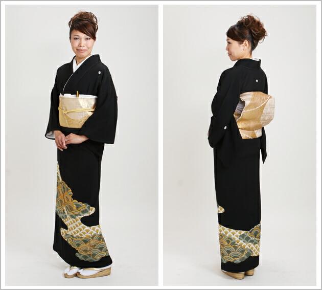 黒留袖 レンタル [小柄な方:〜150cm] 留袖 レンタル 着物 留め袖 NT-167