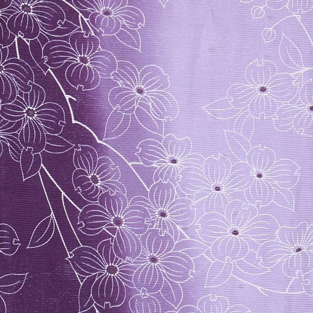 【浴衣 レンタル】レディース 3点セット☆浴衣・帯・下駄☆nt-y050 紫花/グラデーション