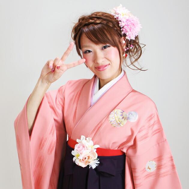 卒業式 袴 レンタル ピンク色 まり 身長〜170cm,7号〜13号 NT-266