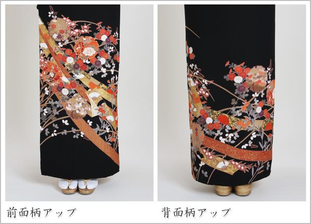 黒留袖 レンタル [標準サイズ:150cm〜165cm] 留袖 レンタル 着物 留め袖 NT-590