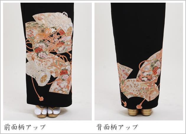 黒留袖 レンタル [小柄な方:〜150cm] 留袖 レンタル 着物 留め袖 NT-s322