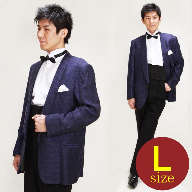【タキシード レンタル】L・XLサイズ/170cm〜182cm/青 パーティ 演奏会 1148