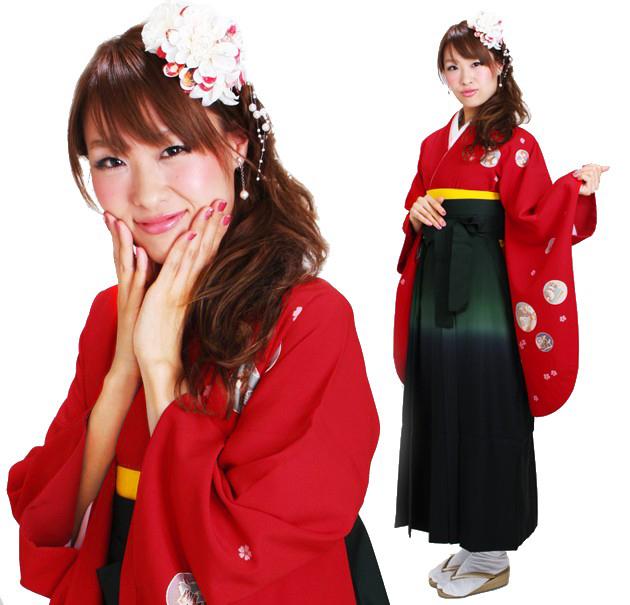 卒業式 袴 レンタル 赤色 十二支 身長〜173cm,7号〜13号 NT-270