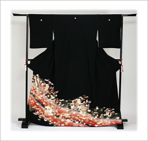 黒留袖 レンタル [標準サイズ:150cm〜163cm] 留袖 レンタル 着物 留め袖 NT-860