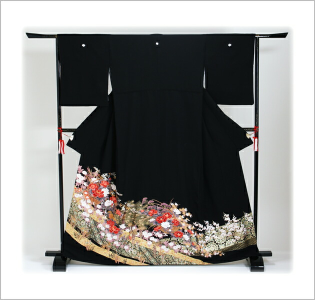 黒留袖 レンタル [標準サイズ:150cm〜163cm] 留袖 レンタル 着物 留め袖 NT-871