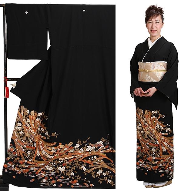 黒留袖 レンタル [標準サイズ:150cm〜165cm] 留袖 レンタル 着物 留め袖 NT-891