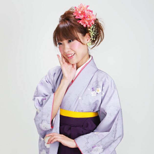 卒業式 袴 レンタル 紫色 桜 身長〜170cm,7号〜13号 NT-278