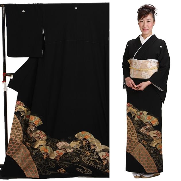 黒留袖 レンタル [標準サイズ:150cm〜163cm] 留袖 レンタル 着物 留め袖 NT-855