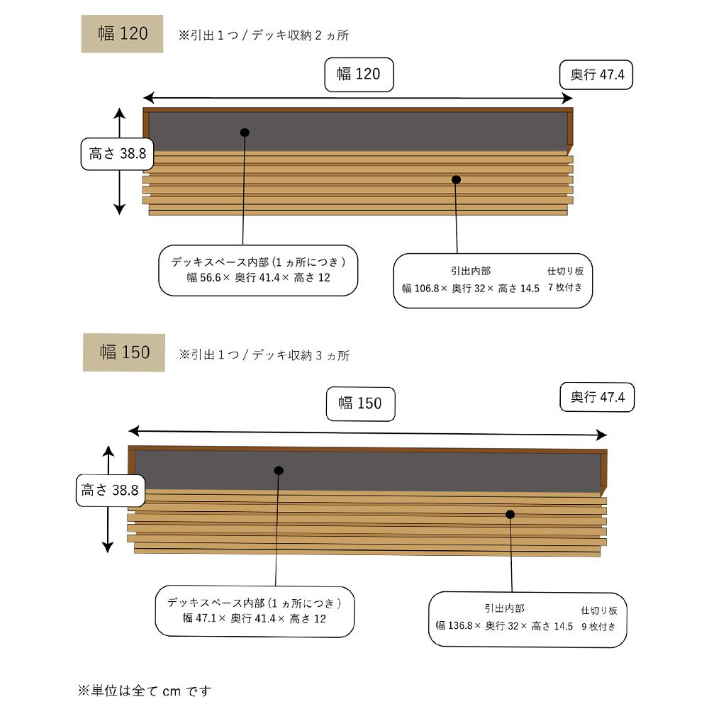 テレビボード fresco フレスコ ウォールナット+オーク 120cm 150cm 180cm 210cm   【124,300円〜186,450円(税込)】