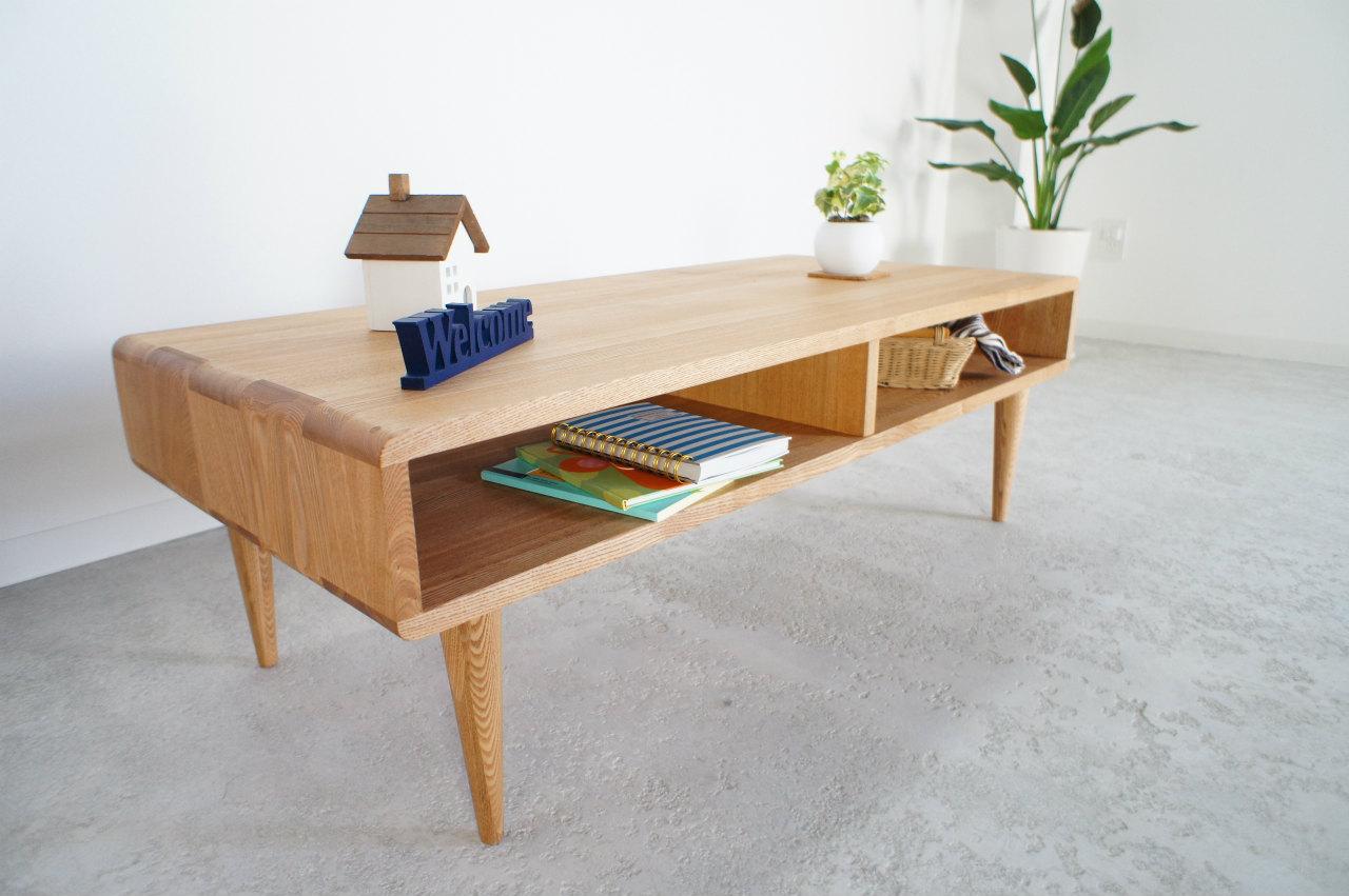 リビングテーブル  Nature ナチュレ (ライトorダーク)幅 110cm 85cm  【47,520~62,370円(税込)】