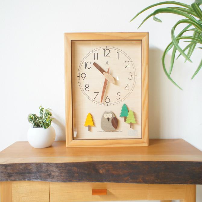 森の電葉時計フクロウ振子