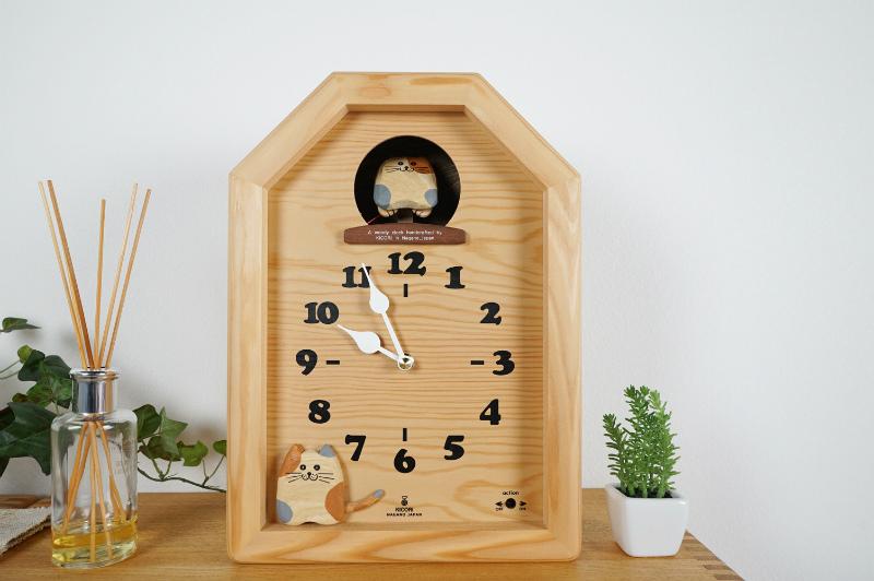 三毛猫のカッコー時計