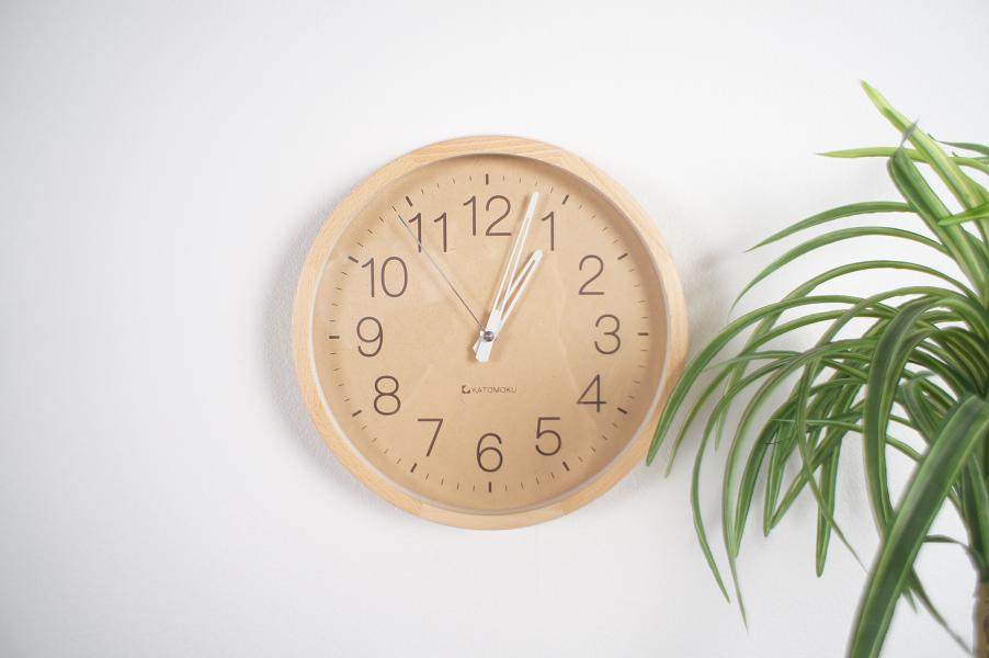 muku round wall clock2 電波時計