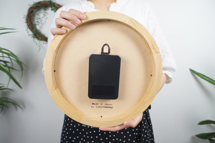 muku round wall clock7 電波時計