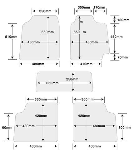 汎用フロアマット/CITY(シティ) 単品(1台分)