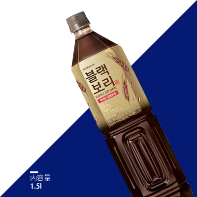 【ハイトジンロ】黒麦茶 ブラックボリ1.5L