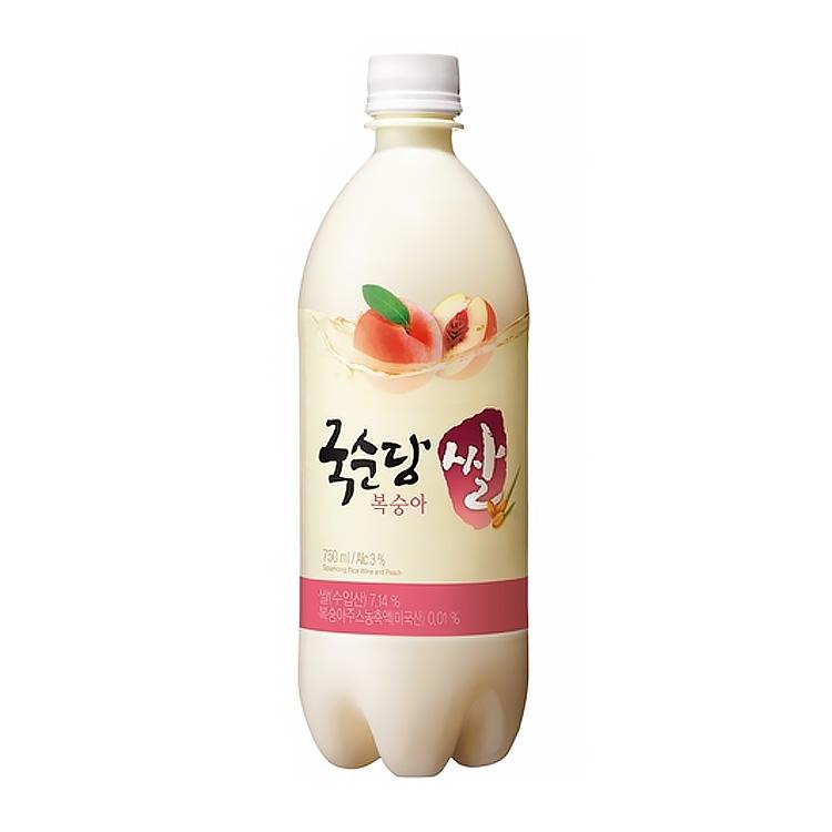 麹醇堂(クッスンダン) 米マッコリ 桃味 750ml ALC.3%
