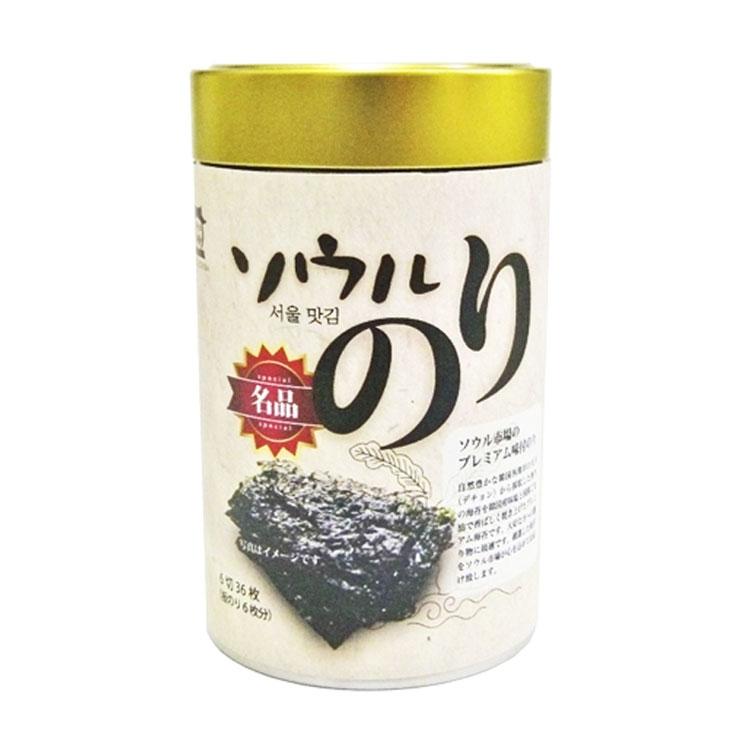 ソウル市場 名品味付けのり缶 6切36枚