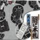 【祭り用品|本染め柄物鯉口シャツ】纏に木札(まといにきふだ)グレー紬