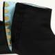 【岡足袋|7枚こはぜ】黒木綿足袋(黒79A)カラス足袋■黒底「雲才底」■浅葱裏