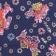 【祭り用品|本染め柄物鯉口シャツ】唐獅子と獅子毛(からじしとししげ)紺|特岡=浴衣地