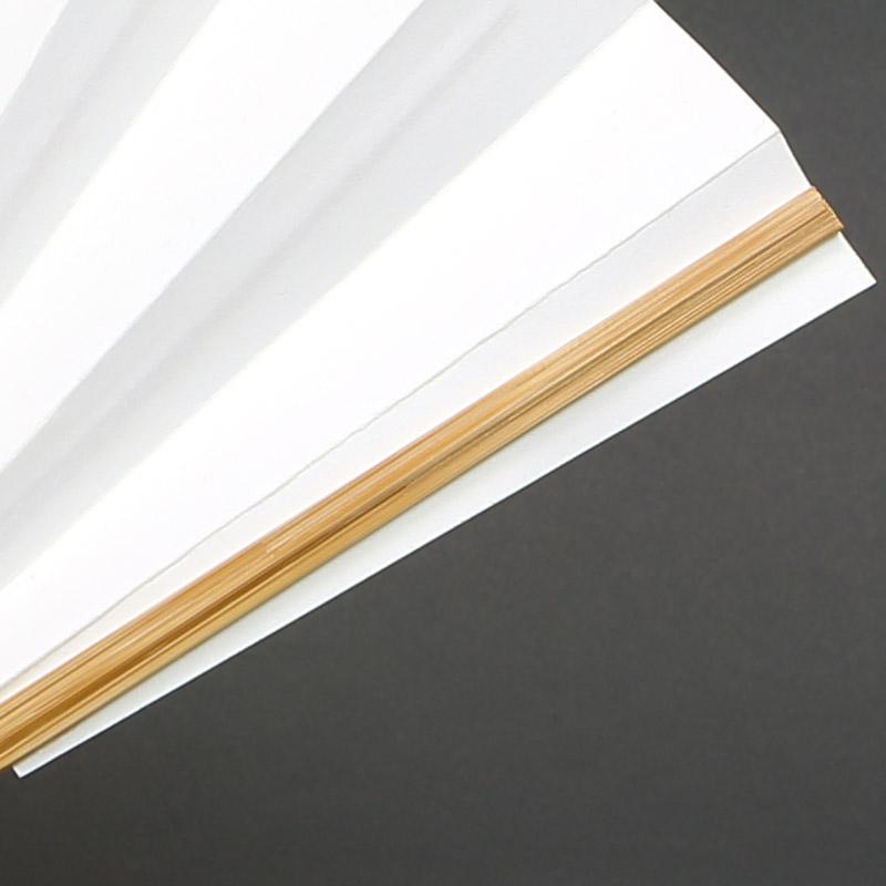 【祭り用品|白扇】絹張り(きぬばり)■9寸11間|高級扇子