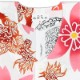 【祭り用品 本染め柄物鯉口シャツ】獅子と花(ししとはな)白 特岡=浴衣地