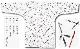 【祭り用品|本染め柄物鯉口シャツ】煙管の柄(キセルのがら)白|特岡=浴衣地