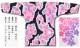【祭り用品|本染め柄物鯉口シャツ】桜吹雪(さくらふぶき)紺差分|特岡=平織り