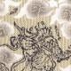 【祭り用品|本染め柄物鯉口シャツ】龍と雲(りゅうとくも)刺子・濃いベージュ