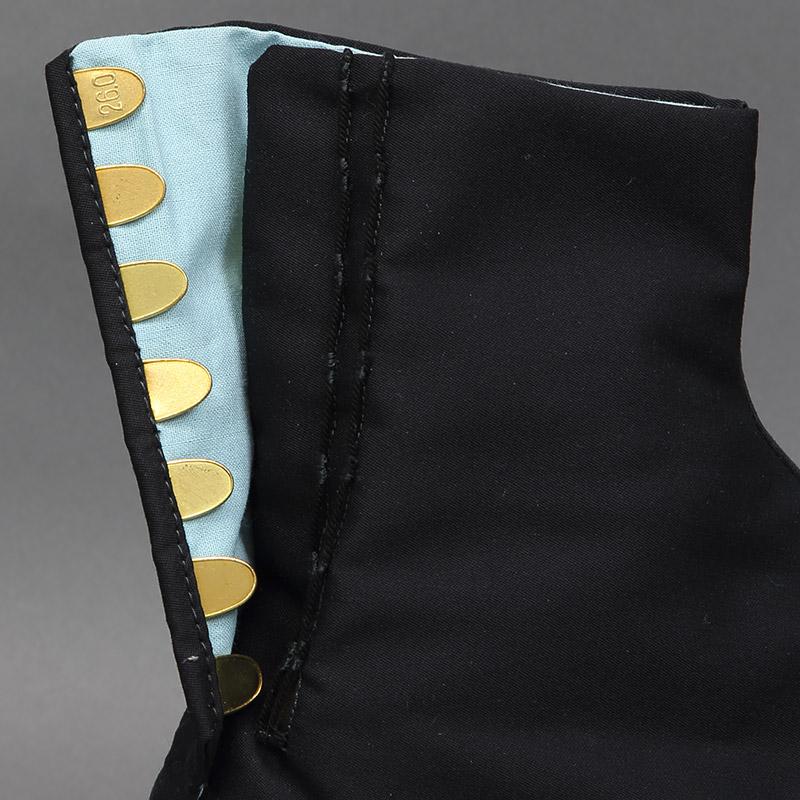 【岡足袋 7枚こはぜ】黒カシミヤ足袋 カラス足袋■黒底「雲才底」■浅葱裏