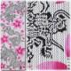 切り売り反物【龍と桜|りゅうにさくら】刺子「白」■注染染め