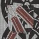 【祭り用品|本染め柄物鯉口シャツ】源氏車に拍子木(げんじぐるまにひょうしぎ)刺子・グレー