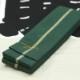 【染め角帯|角-03】一本独鈷(いっぽんどっこ)緑