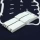 【織角帯|綿献上】献印-7■白地に黒の献上柄■角帯の結び方ガイド付き