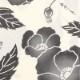 【祭り用品|本染め柄物鯉口シャツ】芥子の花(けしのはな)墨ぼかし|特岡=平織り