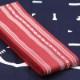 【織角帯|綿献上】献印-10■エンジの献上柄■角帯の結び方ガイド付き