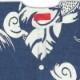 【祭り用品|本染め鯉口シャツ】渦雲に龍(うずくもにりゅう)鉄紺紬