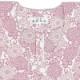 【祭り用品|本染め柄物鯉口シャツ】小菊(こぎく)ピンク|特岡=平織り