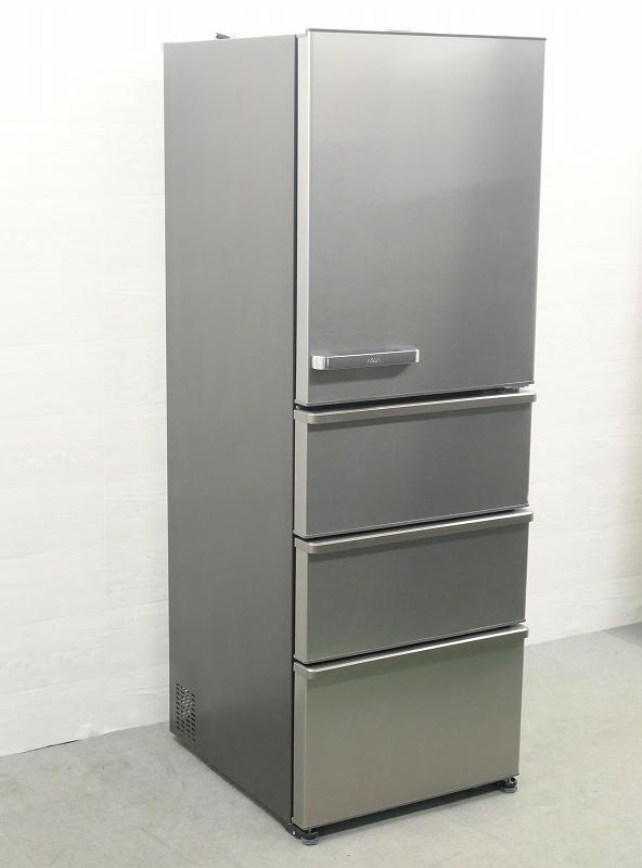アクア製4ドア/2019年式/430L/ノンフロン冷蔵冷凍庫/AQR-V43J(S)●【2122516】