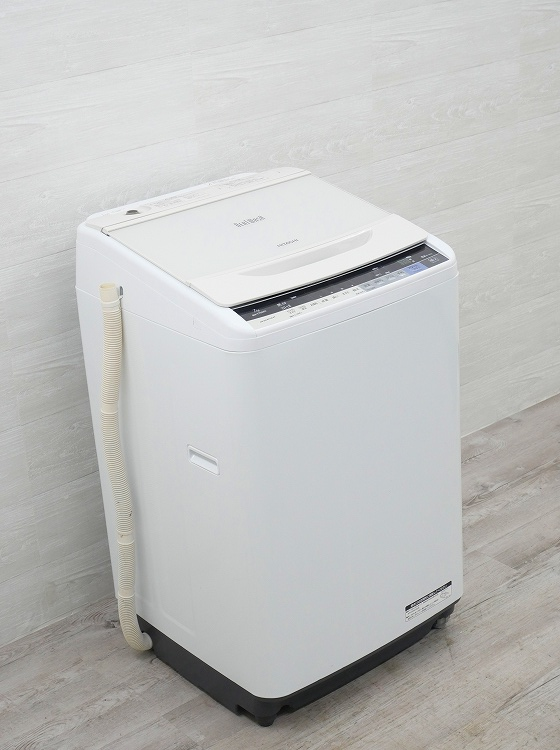 日立製/2017年式/7kg/全自動洗濯機/BW-V70AE4●