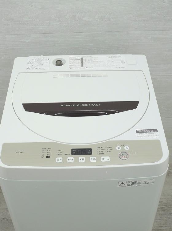 シャープ製/2017年式/4.5kg/全自動洗濯機/ES-GE4B-C●