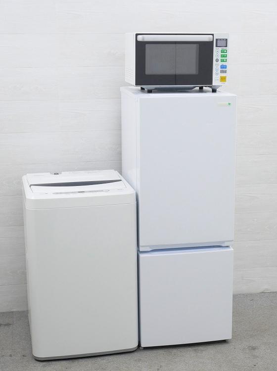 ヤマダ電機製/18年式,16年式/156L,6kg/中古家電3点セット