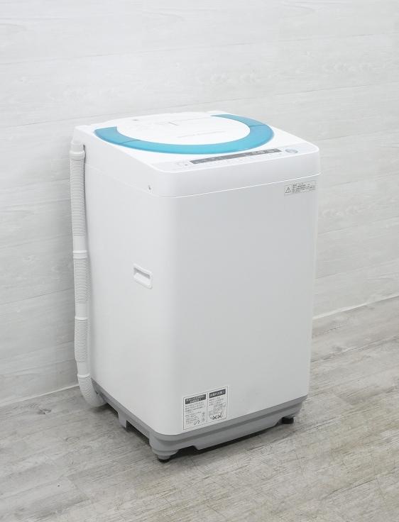 シャープ製/2015年式/7kg/Ag+イオンコート全自動洗濯機/ES-GE70P-G●◆