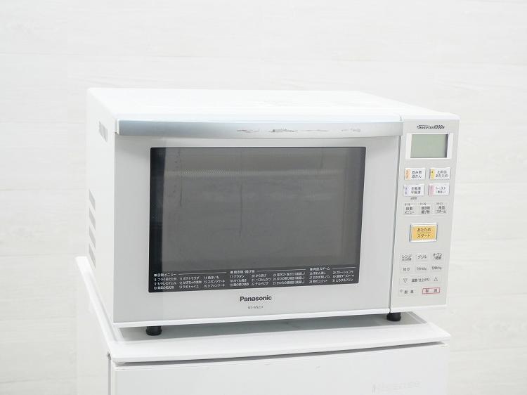 Panasonic製/2015年式/出力1000W/オーブンレンジ/NE-MS231-W